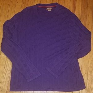 Michael Kors Men's Purple Pullover Sweater | L
